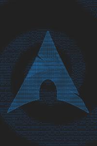 1280x2120 Arch Linux Minimalism 4k
