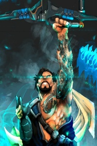 320x480 Archer Dragon Hanzo Overwatch