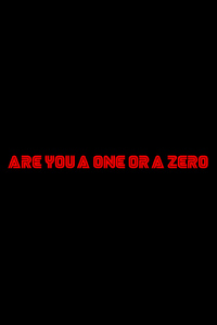 320x480 Are You A One Or A Zero Mr Robot Typography 4k