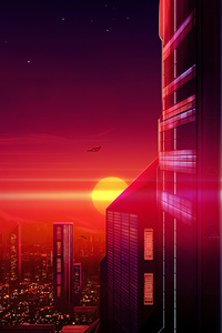 1080x2160 Argumented City 4k