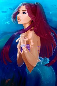 320x480 Ariana Grande Ariel Art