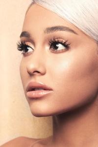 Ariana Grande Face Portrait 4k