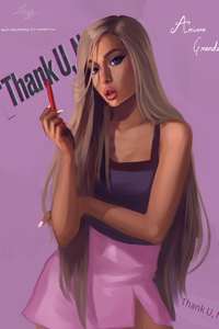 1242x2688 Ariana Grande Fan Art