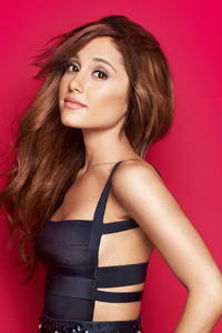 800x1280 Ariana Grande In Black Dress 5k