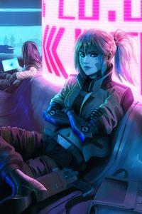 Arkadia And Astree Cyberpunk Girls 4k