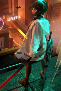 360x640 Armed Girl Cyber World 5k
