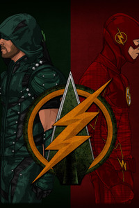 1080x2160 Arrow Flash Artwork 4k