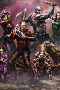 360x640 Art Guardians Of Galaxy Vol