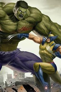 Art Hulk Vs Wolverine 4k