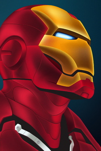 Art Iron Man Closeup
