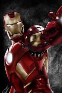 240x320 Art Iron Man New