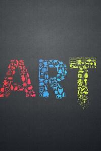 720x1280 Art Letters Creative Minimalsim