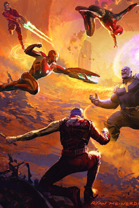 240x400 Art Of Avengers Infinity War