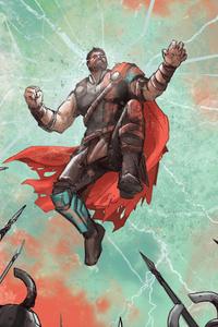 640x1136 Art Thor Ragnarok