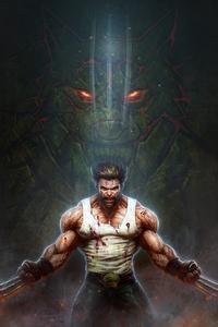 320x480 Art Wolverine 4k