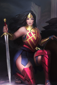 Art Wonder Woman Warrior