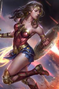 1080x2280 Art Wonder Woman4k