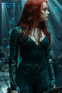 1080x2280 Arthur Curry And Amber Heard As Mera In Aquaman 2018