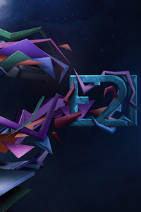 480x800 Artistic 3d Shapes 4k Abstract