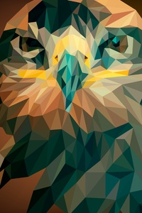1242x2688 Artistic Abstract Owl