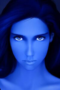 480x854 Artistic Blue Girl