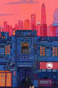 320x480 Artistic Cityscape 4k