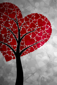 Artistic Heart Tree