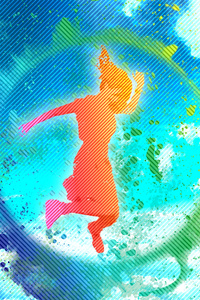 Artistic Woman Background Rainbow Colorful Sky 4k
