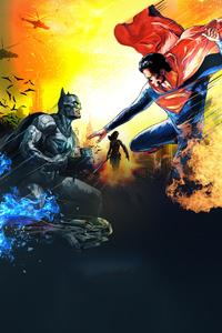 320x568 Artwork Batman V Superman 4k