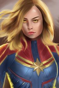 320x480 Artwork Captain Marvel 4k