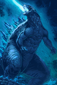 1242x2688 Artwork Godzilla King Of The Monsters