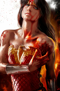 Artwork Wonder Woman Bleeding