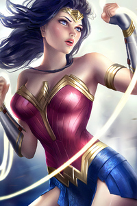 640x1136 Artwork Wonder Woman New