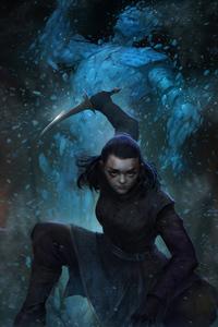 360x640 Arya Stark 4k 2020