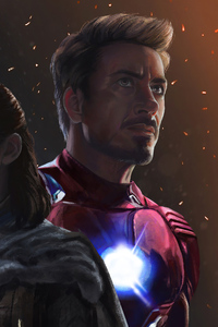 2160x3840 Arya Stark And Iron Man