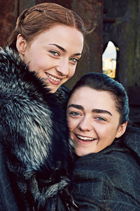 540x960 Arya Stark And Sansa Stark Game Of Thrones Season 7