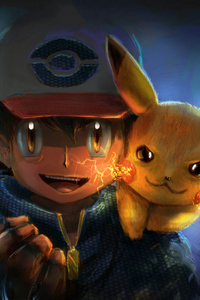 Ash And Pikachu Artwork