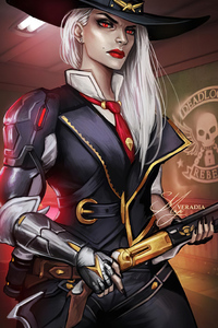 1242x2688 Ashe Overwatch Character