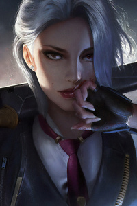 Ashe Overwatch Game Art 4k