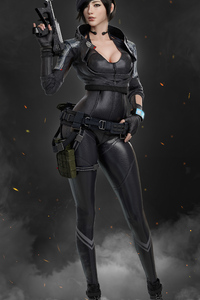 320x480 Asian Commando Girl 4k