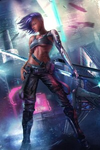 640x1136 Asian Cyberpunk