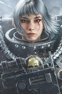480x854 Asian Fighting Nun Warhammer 40k