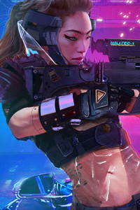 Asian Girl Cyberpunk 2077
