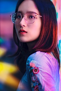 640x1136 Asian Girl Neon Signs 4k