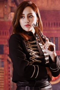 Asian Girl With Pistol Cosplay 4k