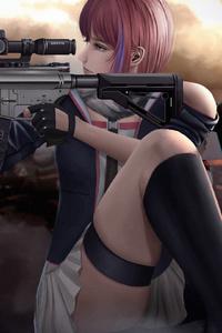 2160x3840 Asian Sniper Girl 4k