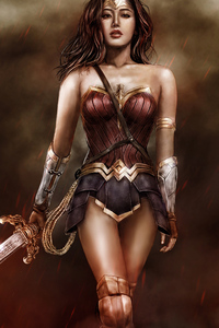360x640 Asian Wonder Woman 4k