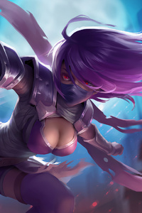 480x800 Assassin Girl 4k