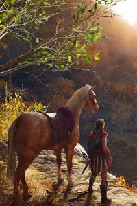 Assassins Creed Odyssey God Statue 4k