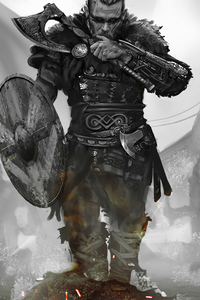 1242x2688 Assassins Creed Valhalla 2020 Cosplay